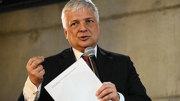 9 kwietnia 2019 r. Robert Gwiazdowski podczas prezentacji listy Polska Fair Play do Parlamentu Europejskiego