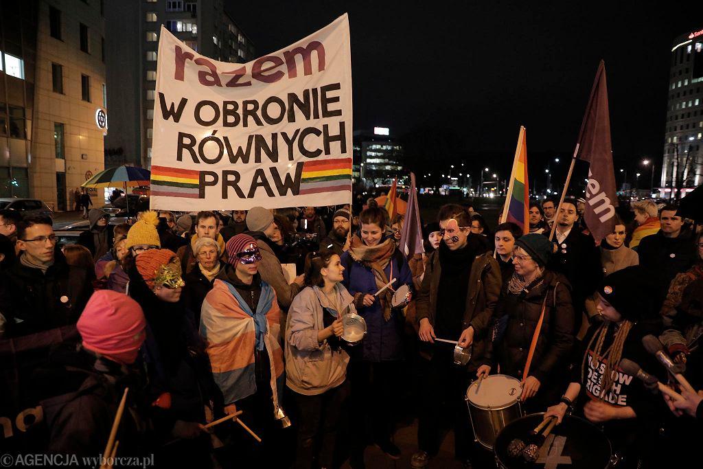 Manifestacja przed siedzibą Ordo Iuris