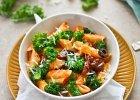 Makaron z jarmużem i suszonymi pomidorami - Zdjęcia
