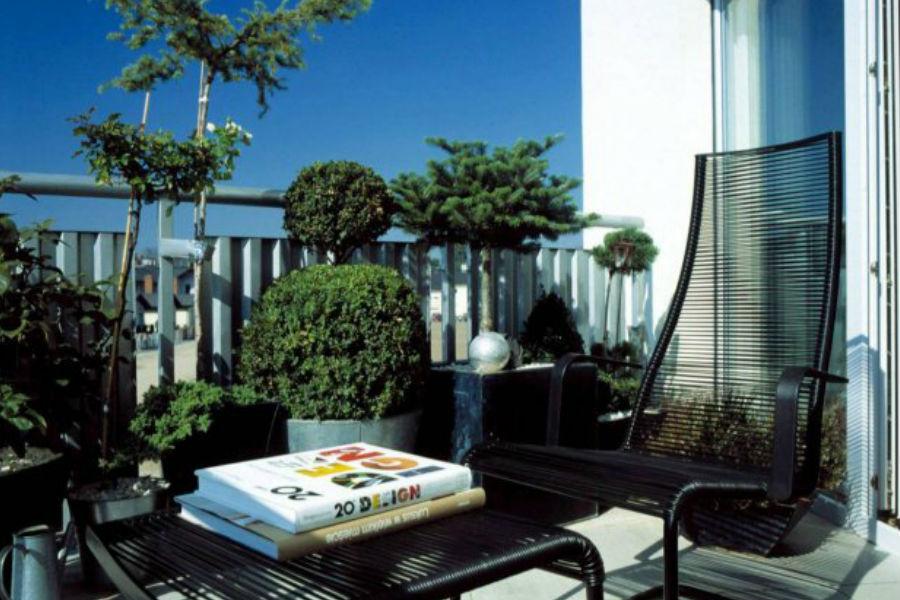 Zielony balkon.