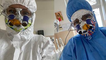 Strój dentysty w czasie pandemii koronawirusa