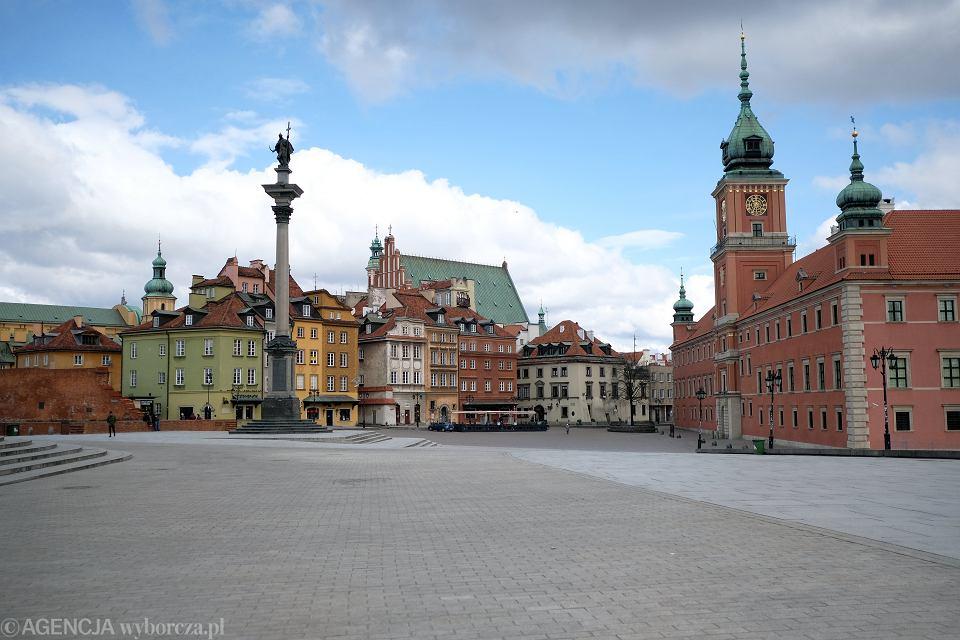Opustoszała Warszawa w czasie pandemii koronawirusa.