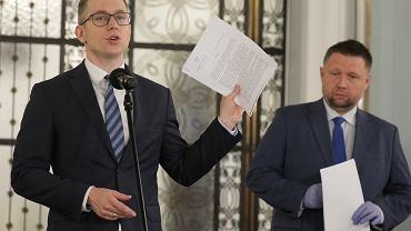 Konferencja prasowa w Sejmie w sprawie drukowania kart wyborczych