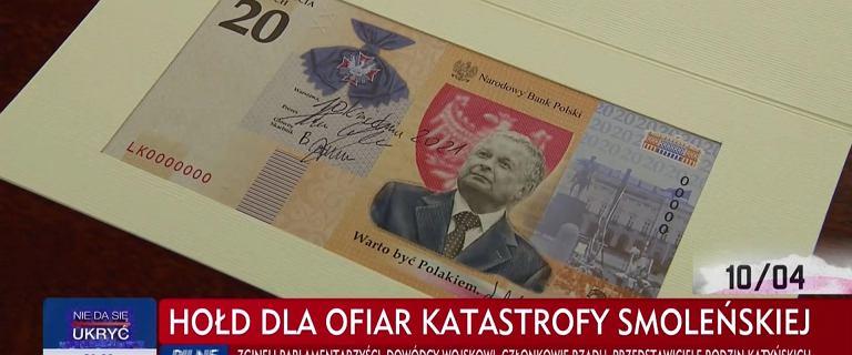 Glapiński zatwierdził banknot z wizerunkiem Lecha Kaczyńskiego
