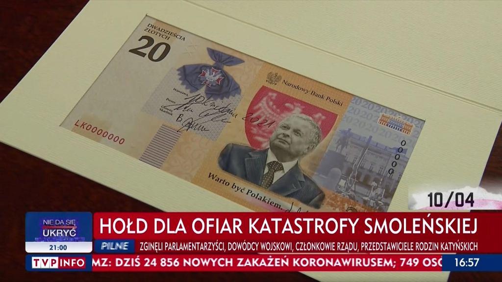 Banknot z wizerunkiem Lecha Kaczyńskiego