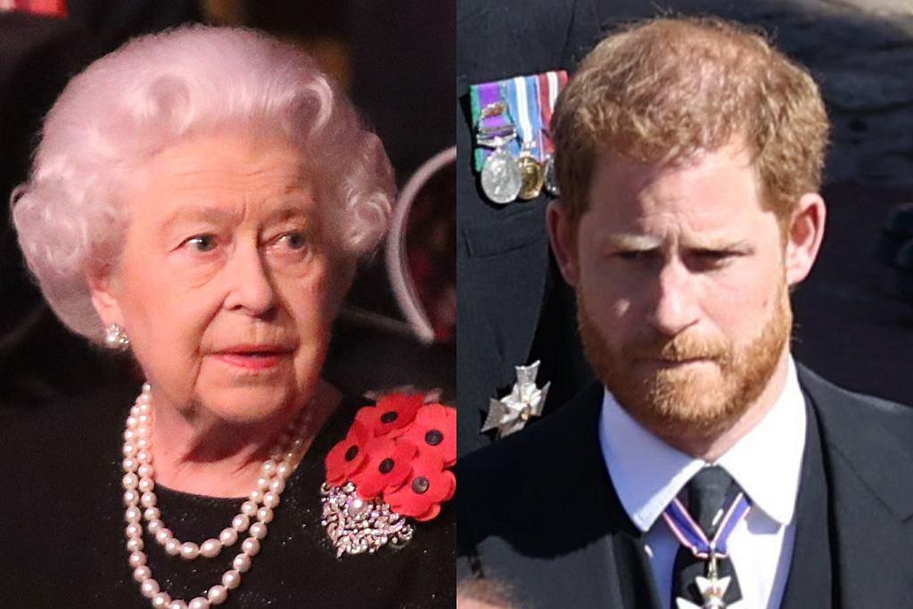 Królowa Elżbieta, książę Harry