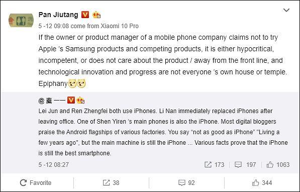 Szef Xiaomi został przyłapany na korzystaniu z iPhone'a