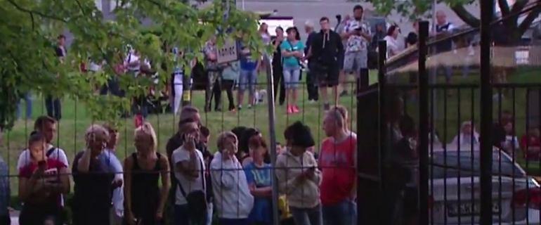 Zabójstwo 10-letniej Kristiny z Mrowin. Tłumy przed prokuraturą