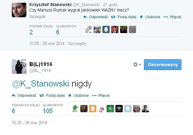 Tweet Bogusława Leśnodorskiego