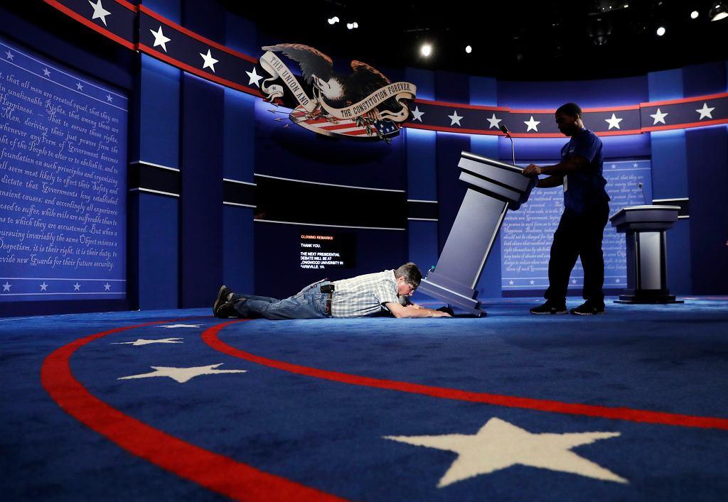 Trwają ostatnie przygotowania do debaty prezydenckiej w USA