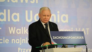 Jarosław Kaczyński na zachodniopomorskiej konwencji PiS przed wyborami samorządowymi 2018