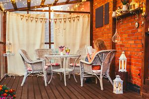 Jesień na tarasie i balkonie