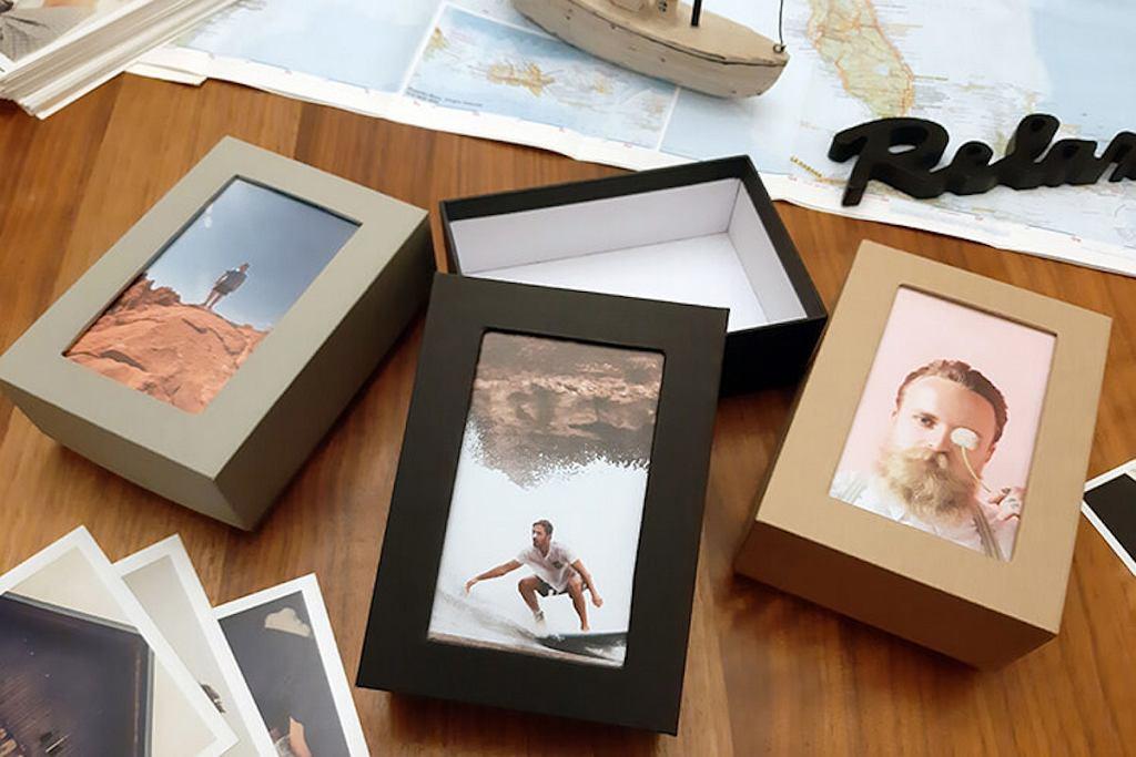 Stylowe pudełka na zdjęcia i różne drobiazgi.