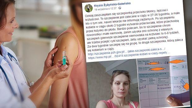 """Pani Krystyna przypomniała o szczepieniach w ciąży. Post wywołał dyskusję. """"Niech pani przeczyta ulotkę"""""""