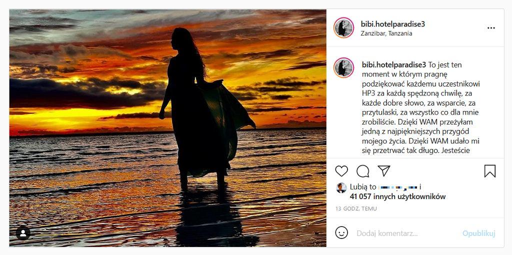 Bibi żegna się z programem 'Hotel Paradise' na Instagramie