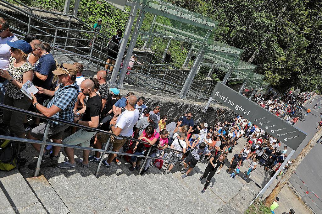 Kolejka do kolejki liniowej na Kasprowy Wierch - 25.07.2019