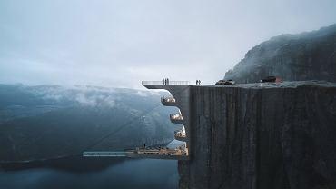 Na zboczu norweskiego klifu powstanie hotel z przezroczystym basenem?