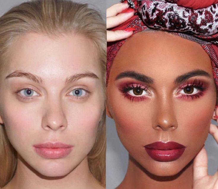 Kontrowersyjny makijaż autorstwa @paintdatface