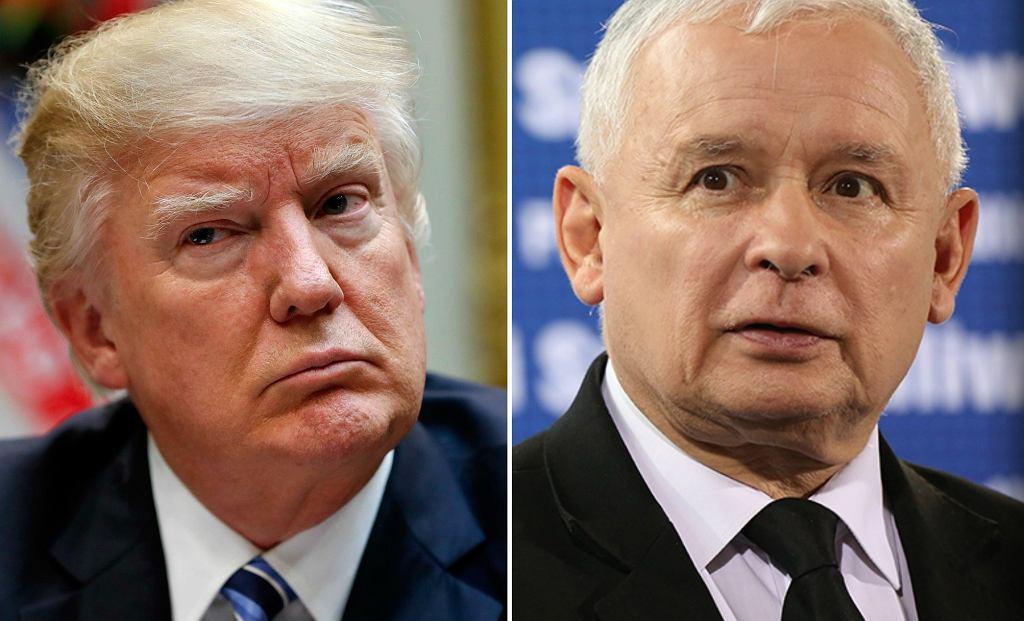 Jarosław Kaczyński i Donald Trump