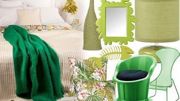 Zielony wystrój mieszkania