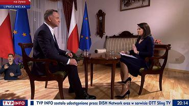 Andrzej Duda w 'Gościu Wiadomości' TVP