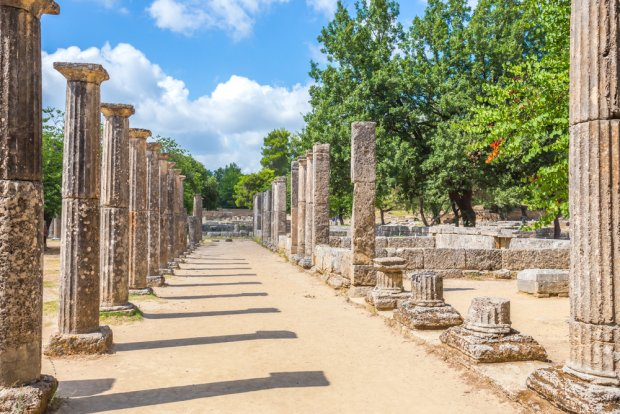 Ruiny starożytnej Olimpii