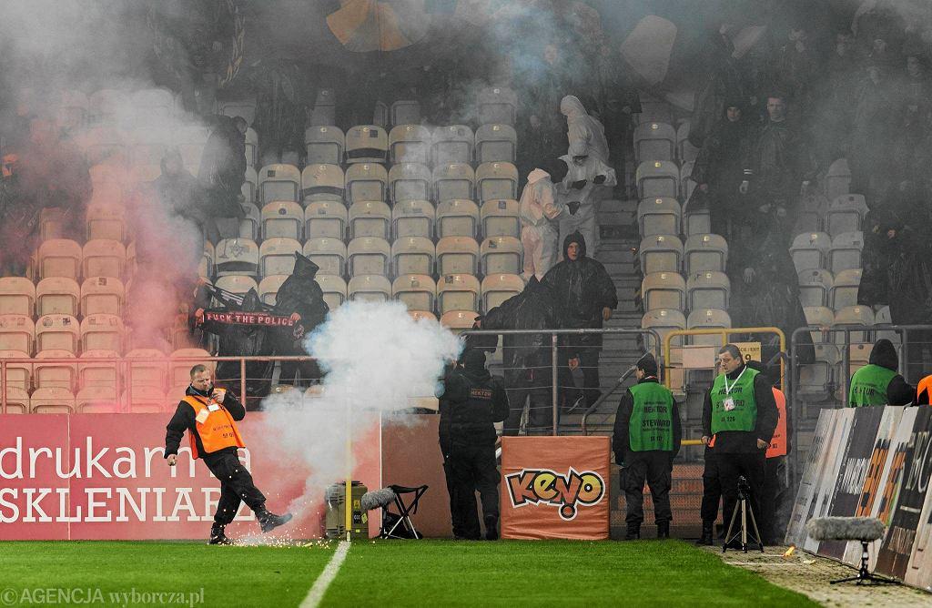 Cracovia - Pogoń 0:1. Zadyma na trybunach