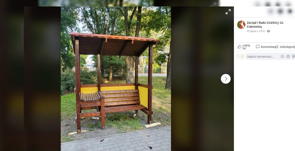 Ławka z przewijakiem w Lublinie