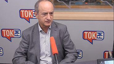 Janusz Reiter w studiu TOK FM.
