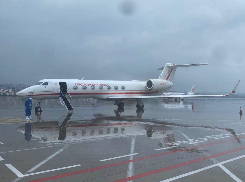 Samolot, którym ciężko chory Polak wrócił do Polski