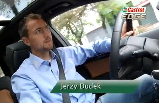 Jerzy Dudek w swoim Audi Q7