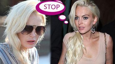 Wpadka - platynowy blond Lindsay Lohan