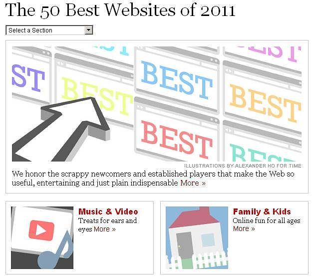 Time wymienia najlepsze strony internetowe roku 2011
