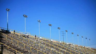 Trybuna stadionu przy al. Unii