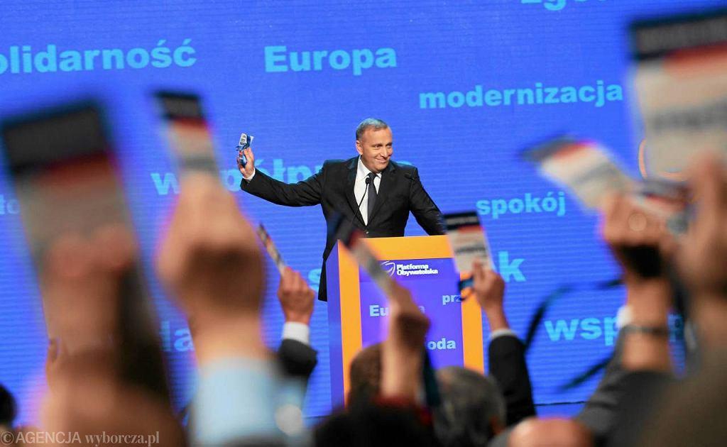 Grzegorz Schetyna podczas konwencji wyborczej PO,Warszawa 10.09.2011