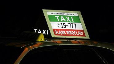 Taksówka z korporacji Taxi Śląsk Wrocław