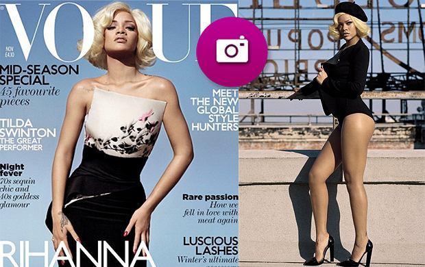 Rihanna - jako blondynka na okładce brytyjskiego wydania Vogue