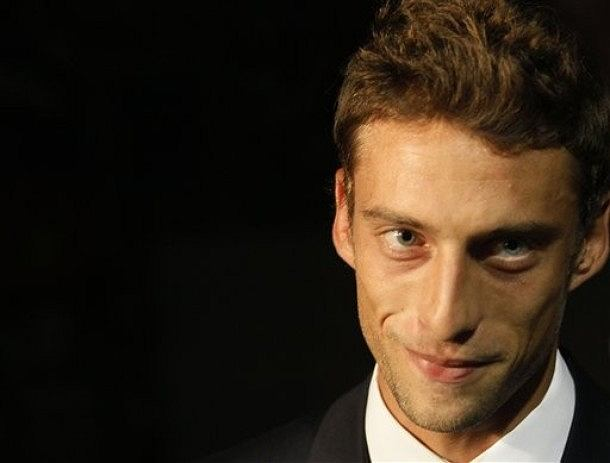 Italy's national soccer team player Claudio Marchisio addresses the media in Belgrade, Serbia, Thursday, Oct. 6, 2011. Italy faces Serbia in the Group C Euro 2012 qualifier match on Friday, Oct. 7. (AP Photo/Darko Vojinovic)