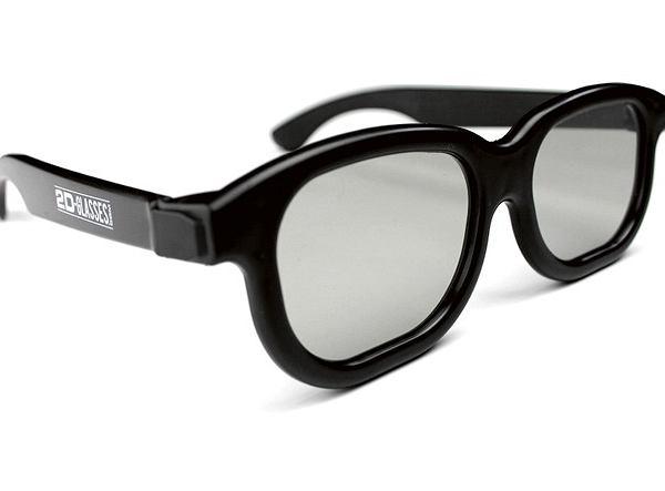 obraz 3D bez okularów 3D nie nadaje się do oglądania. Chyba że masz... 2D-Glasses! Ten model zabiera trzeci wymiar i pozwala cieszyć się drugim