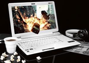 3d, laptop, komputer, Toshiba, Qosmio