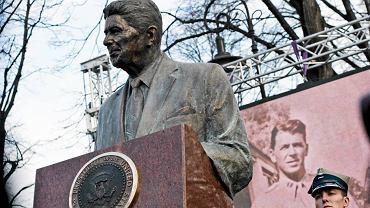 Odsłonięcie pomnika Ronalda Reagana w Warszawie