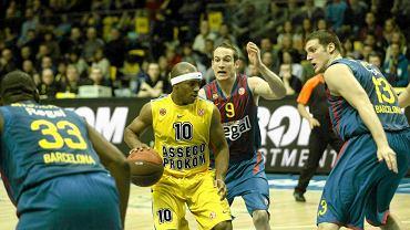 Koszykarze Asseco Prokom Gdynia (żółte stroje)