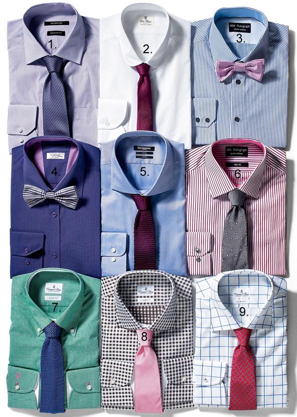 mucha, krawat, koszula