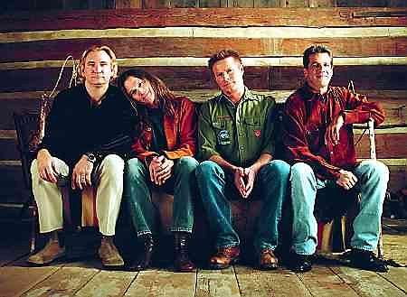The Eagles. Od lewej: Joe Walsh, Timothy B. Shmit, Don Henley, Glen Frey. Kwiecień 2001 r.