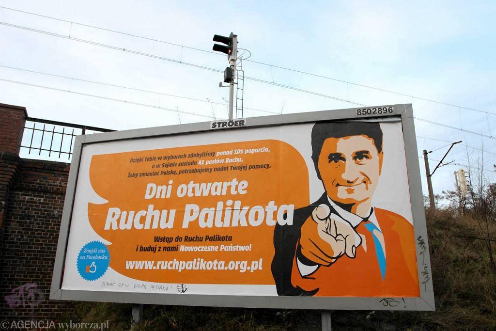 Billboard promujący Ruch Palikota