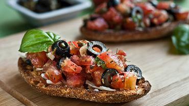 bruschetta, kuchnia włoska, włochy