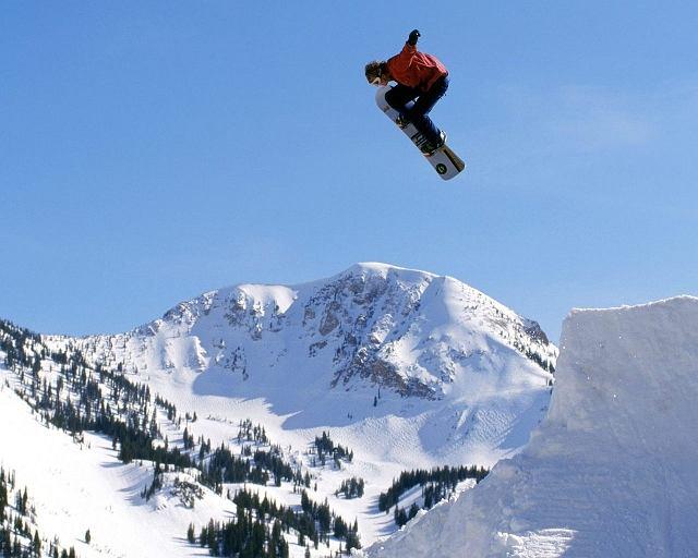 Snowboard, big air