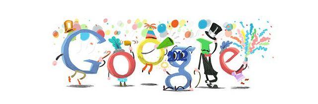 Google doodle Nowy Rok