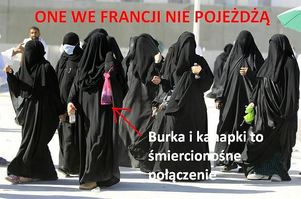 Muzułmanki w burkach