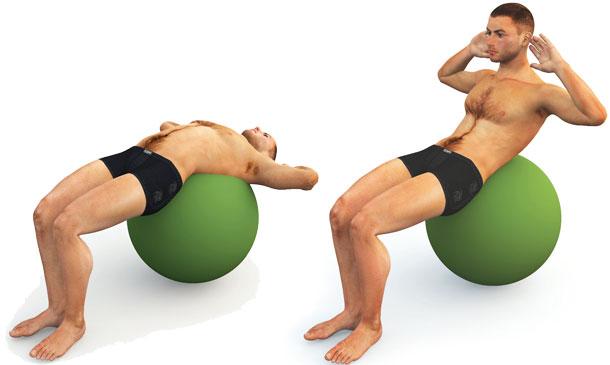 brzuszki, mięśnie, ćwiczenia, fitness